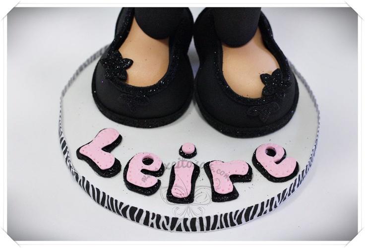 Zapatos de fiesta con tacón en goma eva para fofucha bautizo