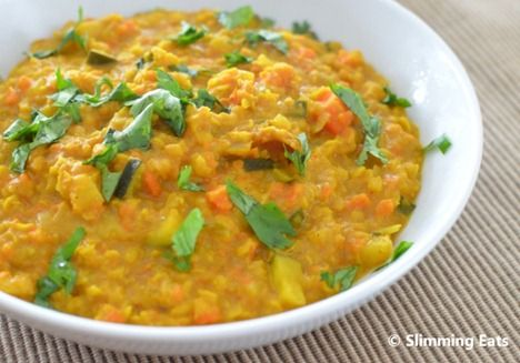 Slimming Eats lentil curry Slimming World Green 3 syns (coconut mill)