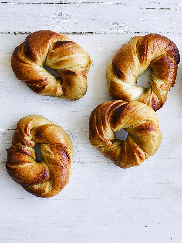 Marmite marbled bagels