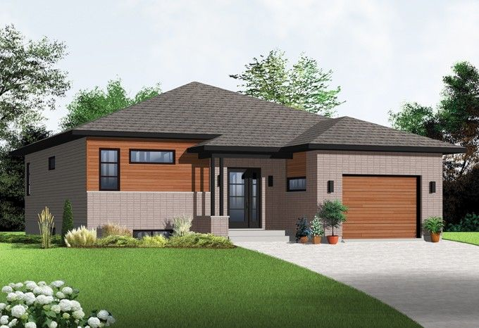 Floor Plan AFLFPW76325 - 1 Story Home Design with 2 BRs and 1 Baths