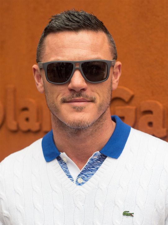 Luke Evans attends the 2016 French Open at Roland Garros in Paris, France, June 3, 2016.