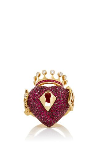 Surrealist Collection Red Sapphire Ring by LYDIA COURTEILLE for Preorder on Moda Operandi