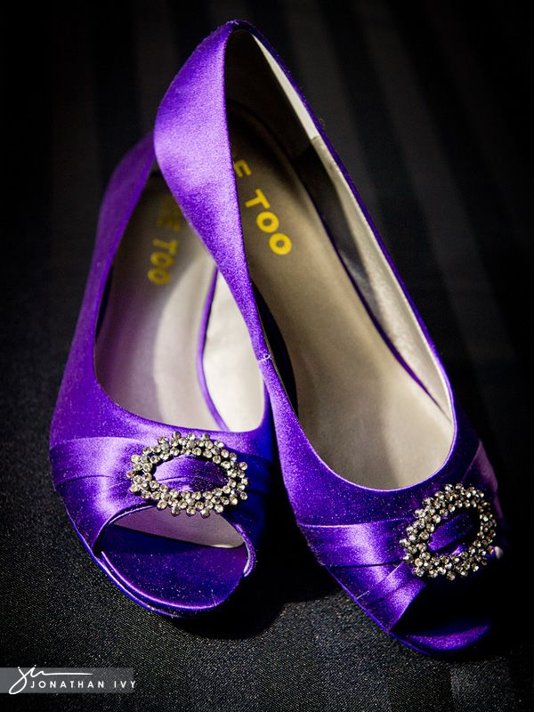 Purple dress shoes flats