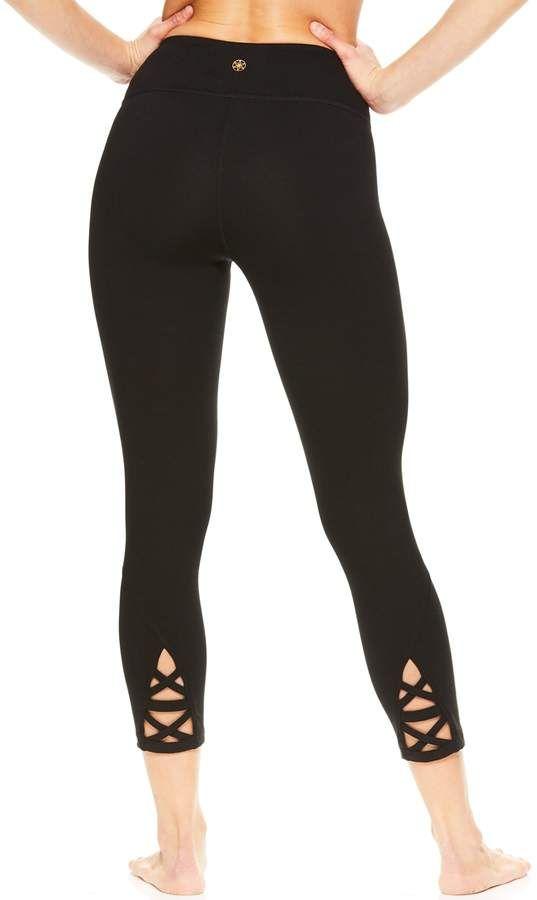 03220e16a9 Women's Gaiam Aster Yoga Strappy Midrise Capri Leggings | Products ...