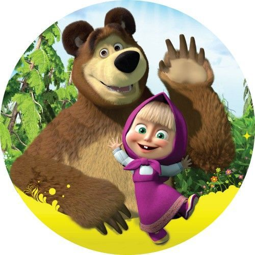 Маша и медведь для торта картинки