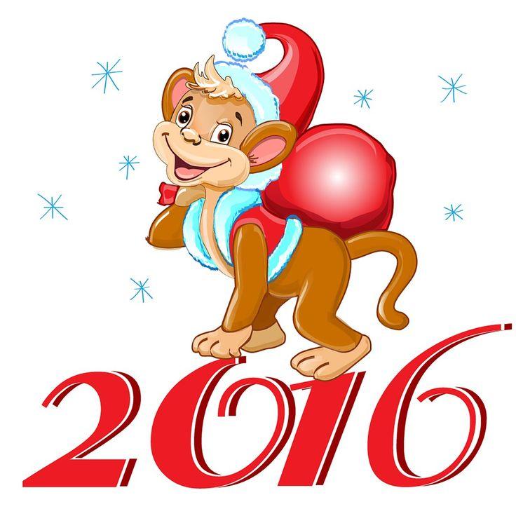 Картинки с новым годом 2016 год обезьяны, красиво подписать открытку