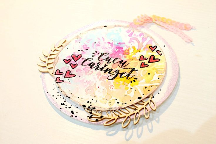 watercolor / distress tutorial tags with GigietMoi stamps