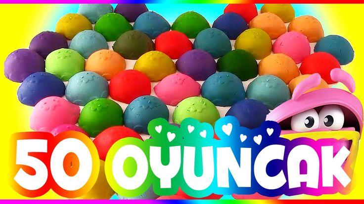 Play Doh Oyun Hamuru 50 Sürpriz Yumurta Oyuncak Açımı