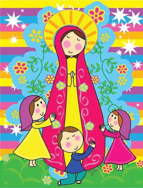 Resultado de imagen para Dibujo infantil de la virgen de Fatima