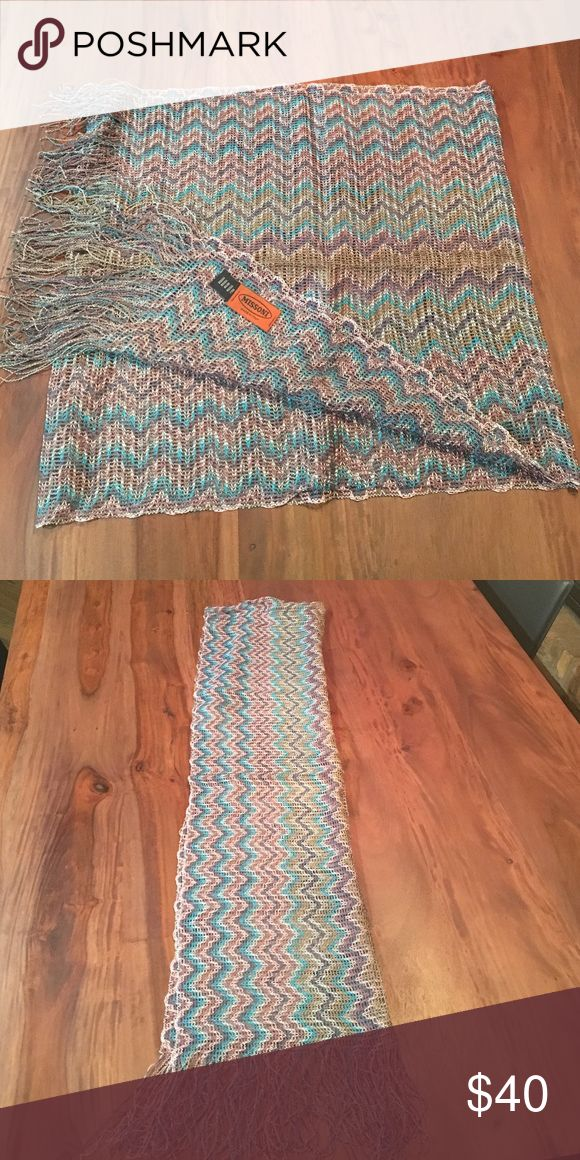 Missoni Scarf Authentic, Never worn, Spring Scarf, Light Weight, Multi Color Missoni Accessories Scarves & Wraps