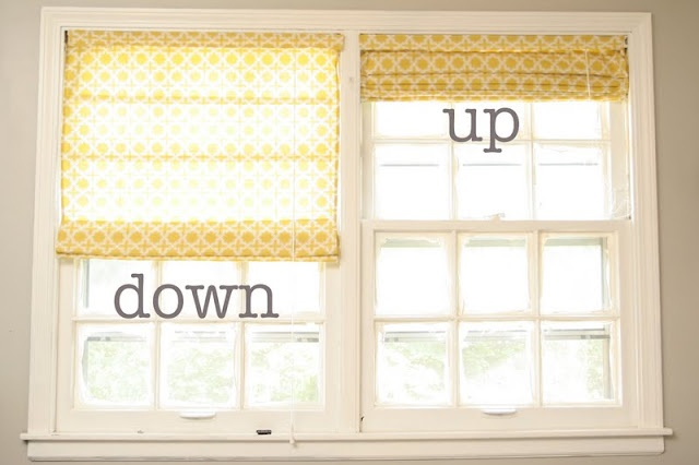 DIY   Roman Shades from cheap mini blinds
