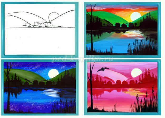 Урок рисования в 1 классе на тему зима фото