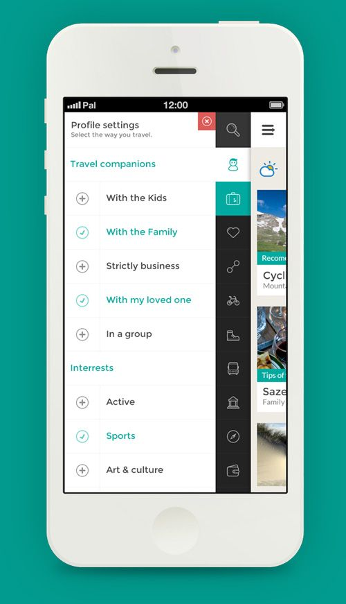 #navigation #FlatUI #mobile Flat Mobile UI Design With Remarkable User  Experience | Design