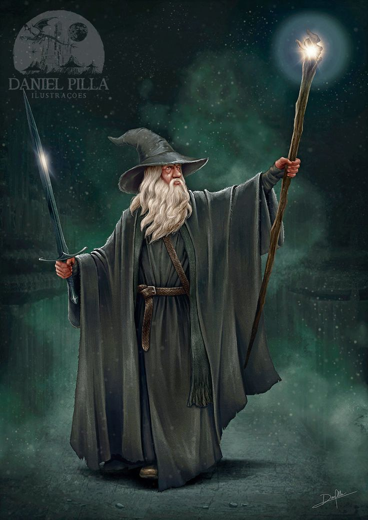 Gandalf, The Grey, in Moria