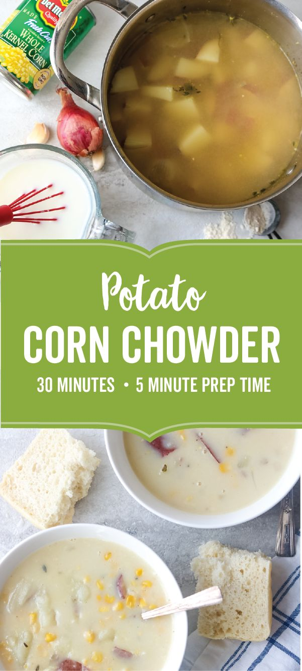For comfort food at it's finest, check out this recipe for Potato Corn Chowder! Starting with Del Monte® Fresh Cut Sweet Whole Kernel Corn, vegetable broth, red potatoes, and fresh herbs, it's no wonder why this warm, winter meal idea is so full of flavor. Ready for your dinner table in just 30 minutes, this creamy creation is sure to spark some creativity into your weekly meal planning for the new year!