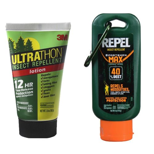 Insect Repellent Lotion Combo Ultrathon 2oz & Repel Sportsmen Max 4oz 40% DEET