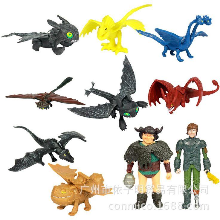 Как Приручить Дракона 2 набор игрушек Беззубый Ночь Fury ПВХ Фигурку Игрушки икота 10 шт./компл. для малыша подарок