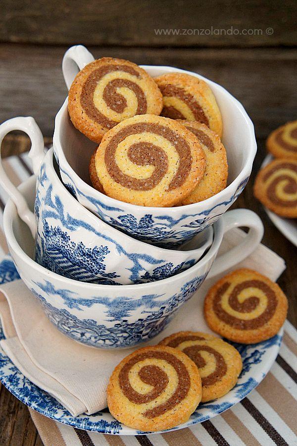 Biscotti a spirale vaniglia e cacao - Pinwheel cookies   From Zonzolando.com
