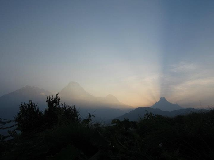 Poon Hill - NEPAL....sunrise behind Pistol mountain with Annapurna South and Dhalagiri ranges....:)