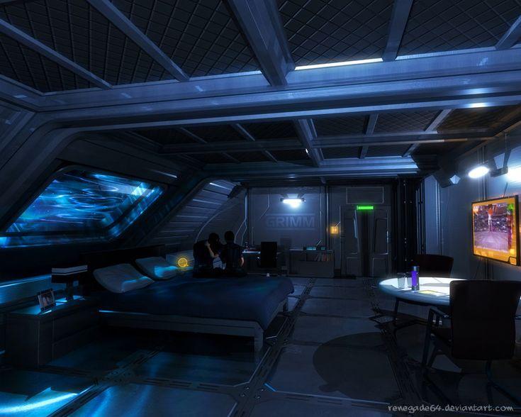 Scifi bedroom cyberpunk and science fiction pinterest for Cyberpunk interior design
