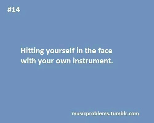 Or like hitting it against your teeth and dying afterwards