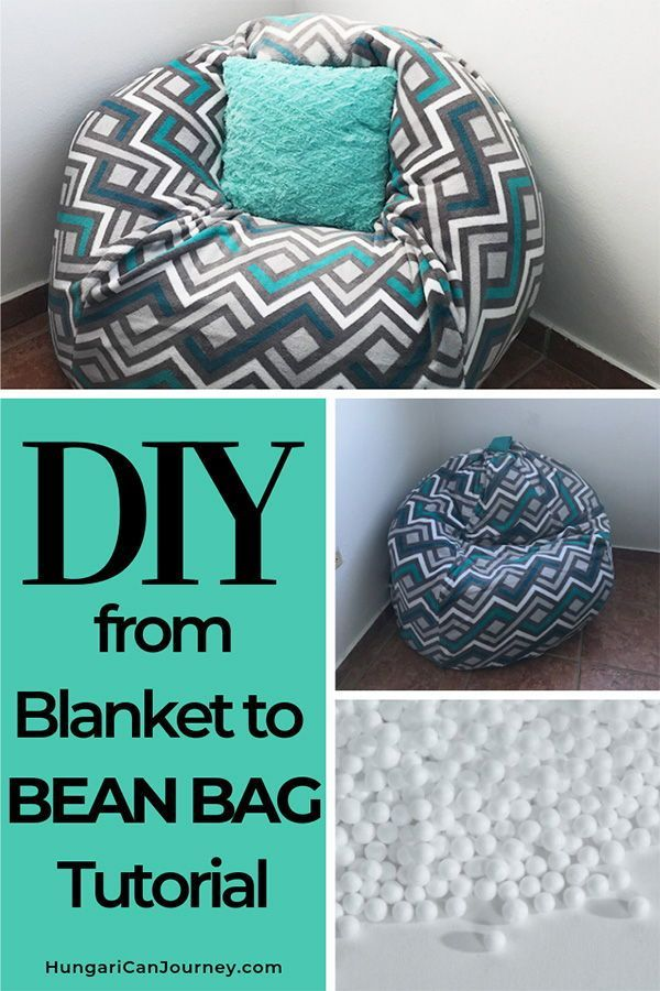 How To Make A Bean Bag Chair Out Of Old Blankets Diy Bean Bag