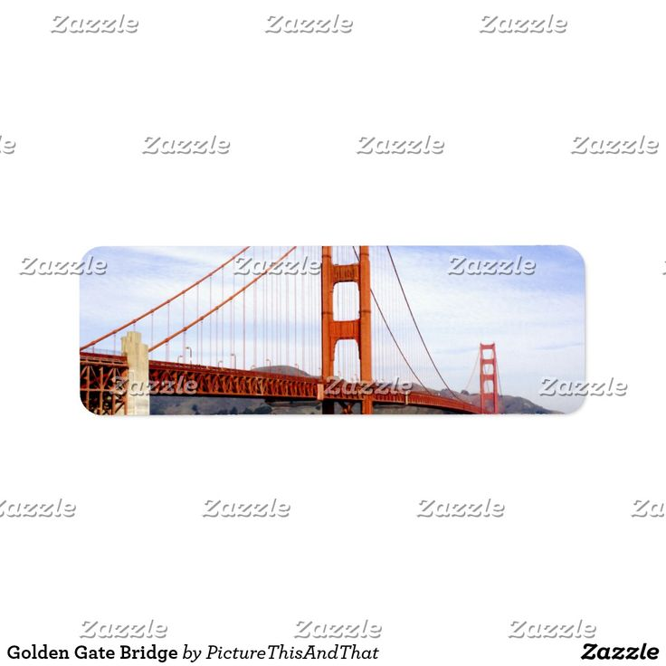 Golden gate bridge label ccuart
