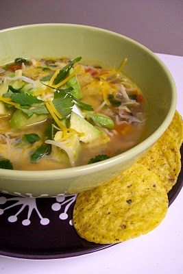 On the Border Chicken Tortilla Soup...yummy and SO easy!