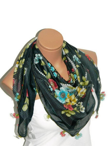 turquoise red green Multicolor Turkish Yemeni by WomanStyleStore, $26.00