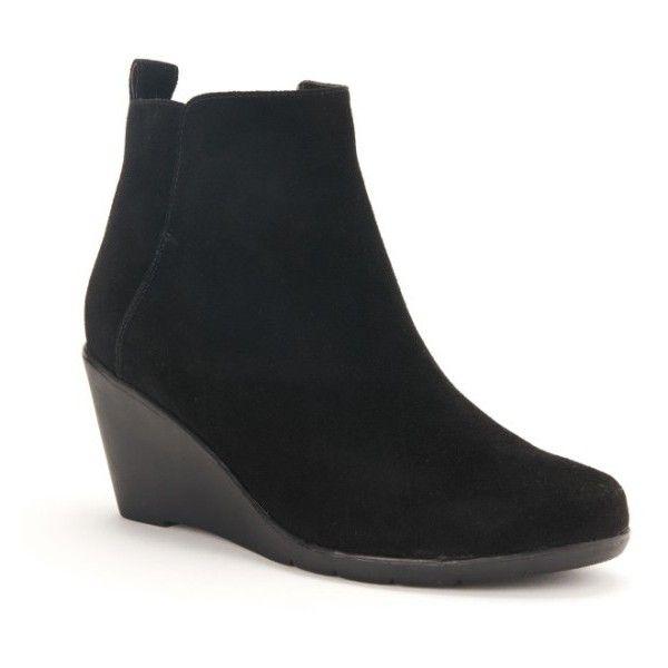 Best 25  Black wedge ankle boots ideas on Pinterest | Black wedge ...