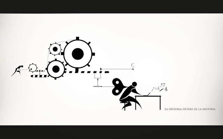 Book illustration made by Chewi, about how the mind works as a team with body, since the idea until the paper