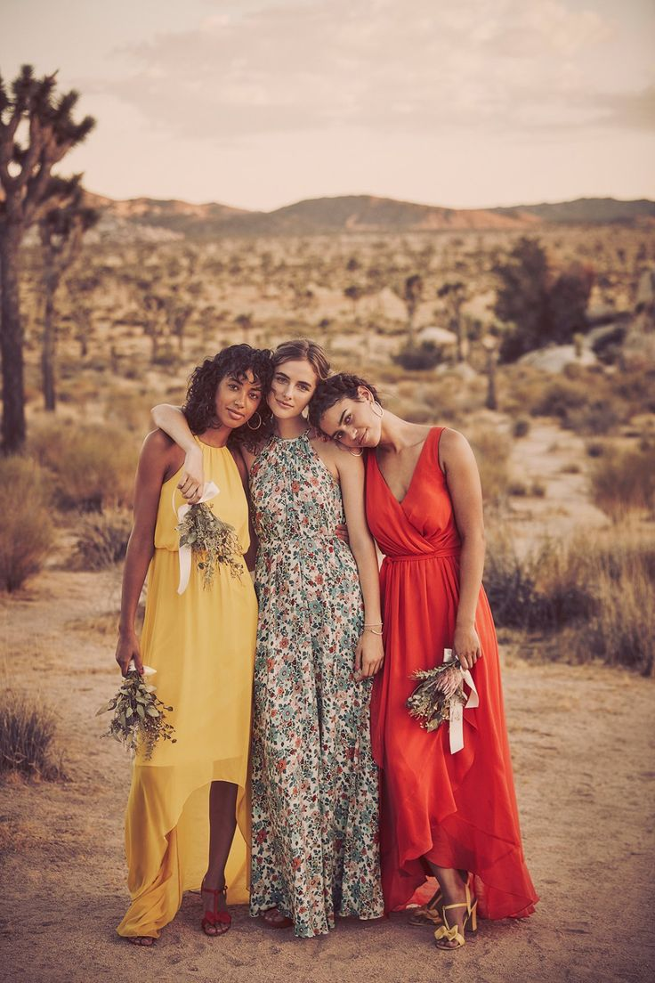 239 best bridesmaid dresses by color images on pinterest bright and bold floral print bridesmaid dress yellow bridesmaid dress and guava bridesmaid dress ombrellifo Images