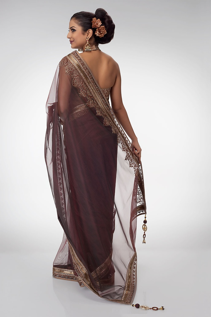 Accentuated with rich border and breathed through style. An ornamental drape intrigues a cocktail.   Shop online at www.satyapaul.com and Join us on our facebook page at www.facebook.com/SatyaPaulIndia