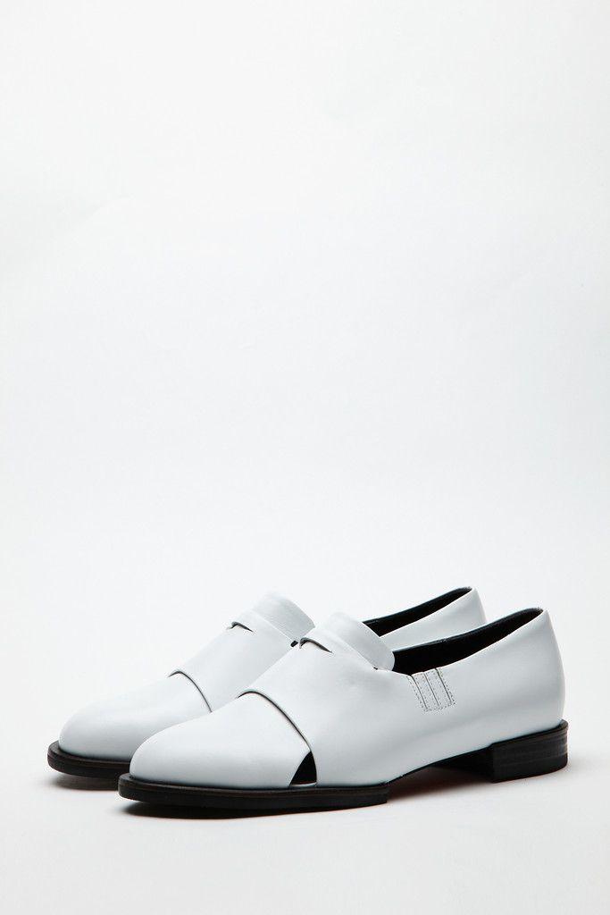 white leather loafer by WNDERKAMMER