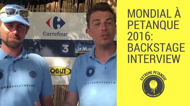 Mondial à la Petanque 2016: backstage interview JOIN US! http://ift.tt/1QBj9Qz http://ift.tt/17PcLFd https://twitter.com/xtreme_petanque http://ift.tt/1BgzEzi http://ift.tt/1BgzHee  #NoRulesOnlyBalls #extremepetanque #extremeboules #pétanqueextrème #streetpetanque #urbanpetanque #ultimatepetanque #extremebocce #petanque #petanca #jeuxdeboules #jeudeboules #boules #bocce #bocceball #ball #balls