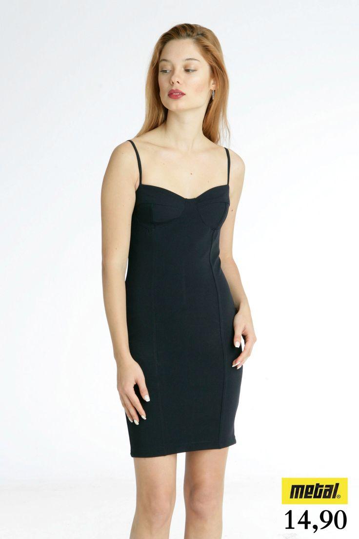 *Φόρεμα ραντάκι ελαστικό σε στενή γραμμή. *Τιμή: 14,90 *Μέγεθος: S *Χρώμα: Μαύρο *Κωδικός: FORE-2495