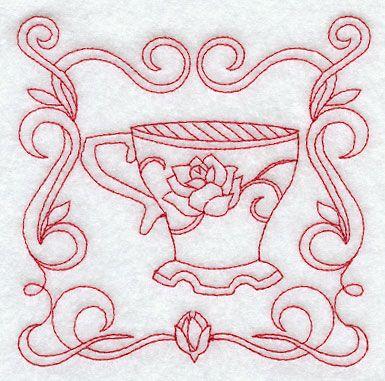 Teacup 8 (Redwork)