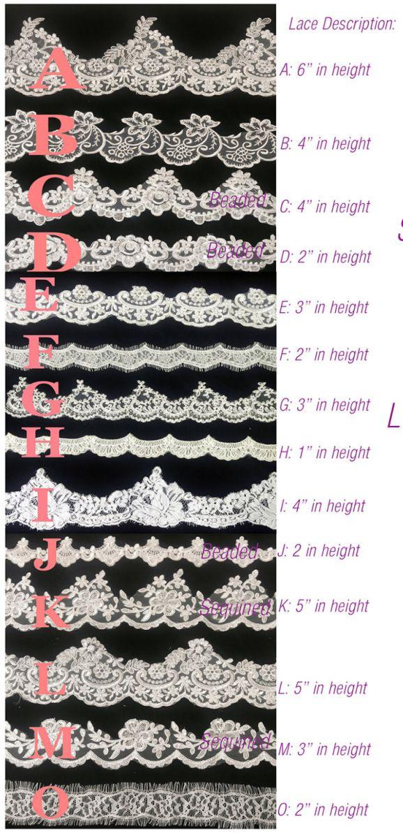 Choose your custom wedding veil lace at BlancaVeils.com