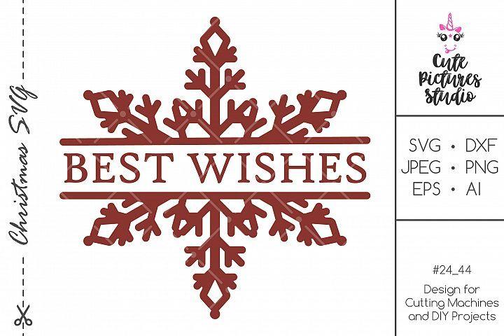 Download Christmas Split Monogram Frame With Snowflakes Svg Png 383747 Svgs Design Bundles Monogram Frame Svg Monogram