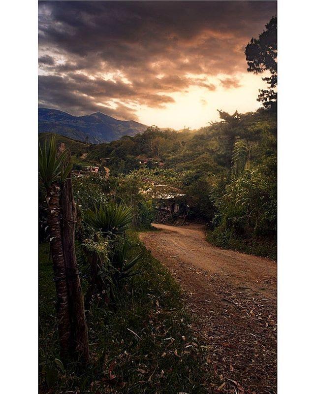 Un cálido atardecer en uno de los caminos de #Consacá  #Nariño #Colombia #Veracruz #atardecer #fotografía #paisaje #andes #idcolombia  #idlatino #ejvallejphoto