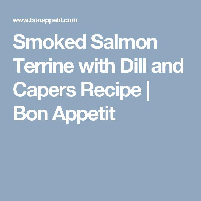 1000+ ideas about Smoked Salmon Terrine on Pinterest   Salmon Terrine ...
