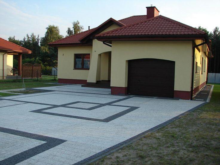 projekty kostki brukowej przed domem   ... wg Projektu aranżacji nawierzchni…