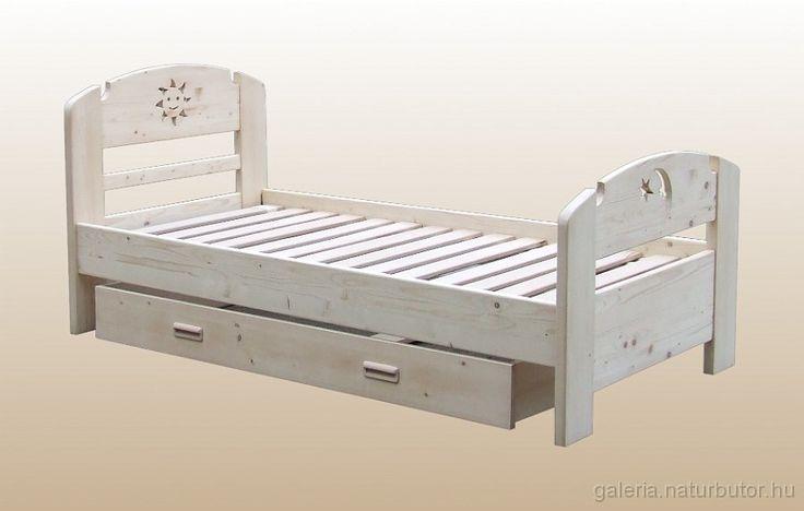 Napocskás gyerekágy - 1személyes, gurulós ágyneműtartóval