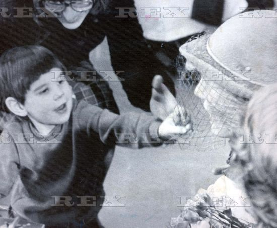 November 26 1982 Princess Diana Gets A Rewiring. It Didn't Matter To Three-year-old Gary Johnson That His Visitor Was The Princess Of Wales - He Wanted Her Blue Hat. So Without Further Ado He Reached Out And Firmly Tugged At The Veil As The Laughing Princess Put Her Hand To Her Head. The Encounter Happened At Maelor Hospital In Wrexham Which The Prince And Princess Toured On The Second Day Of Their Visit To Wale