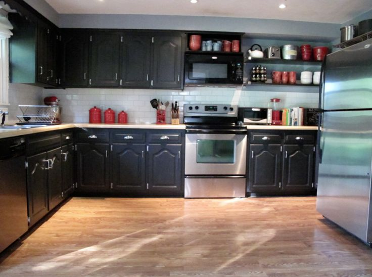 Painted Black Kitchen 49 best black kitchen cabinets images on pinterest | black