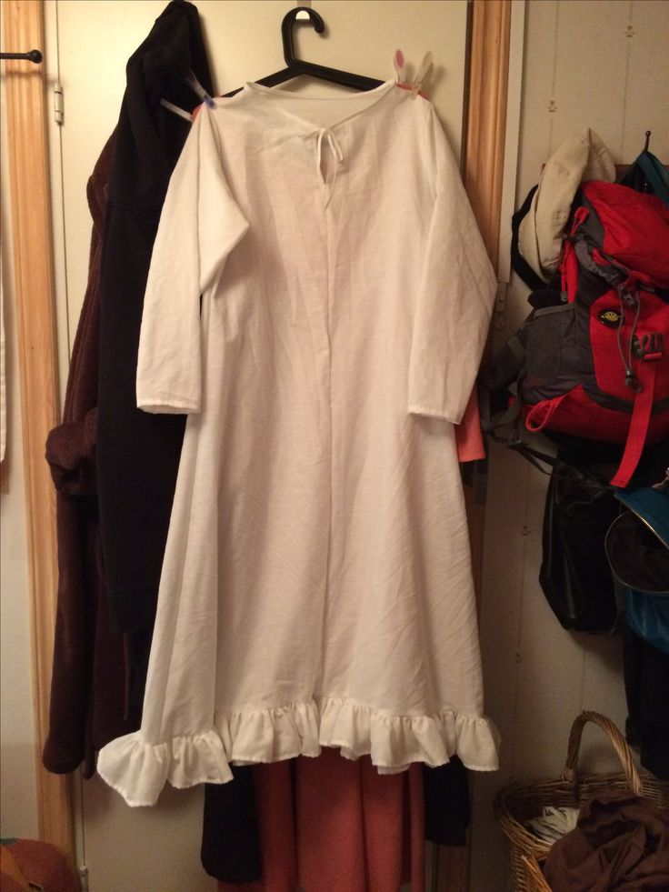 My daughter requested a night gown for her Halloween costume so I was nice and made one for her :)