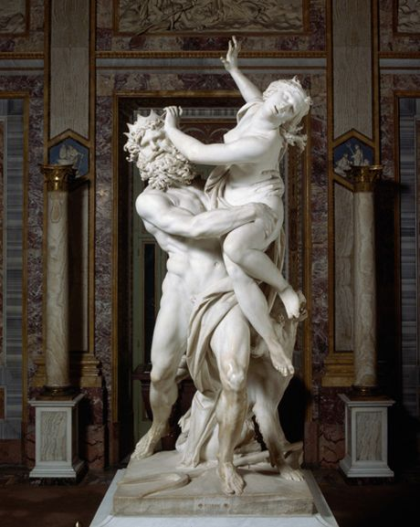 The Rape of Prosperpina by Pluto, Gian Lorenzo Bernini.  The myth of Hades abduction of Persephone,and the origins of the Seasons, was the first Greek myth to make a deep impression on me.