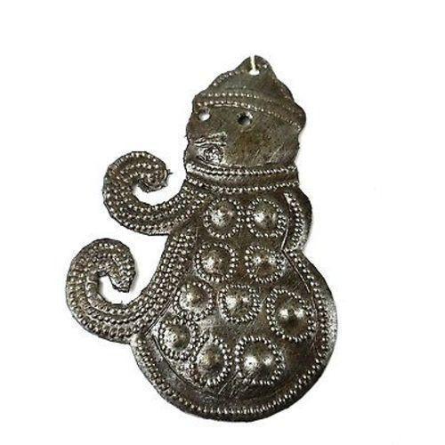 Snowman Design Steel Drum Ornament - Croix des Bouquets (H)