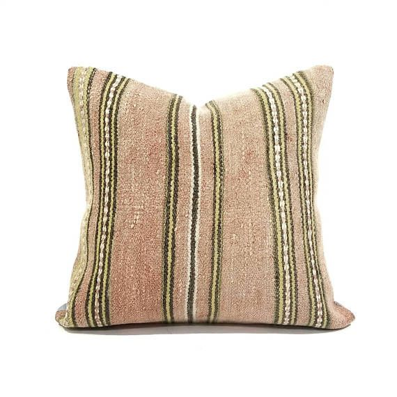 40 Kilim Pillow Cover Backed With Cotton Hidden Zipper Closure Best How To Clean Pillow Covers