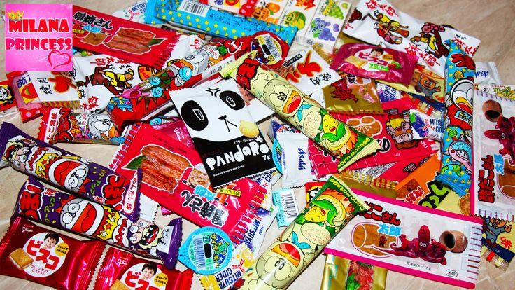 Куча Японских сладостей. Посылки из Японии с конфетами / Japanese sweets